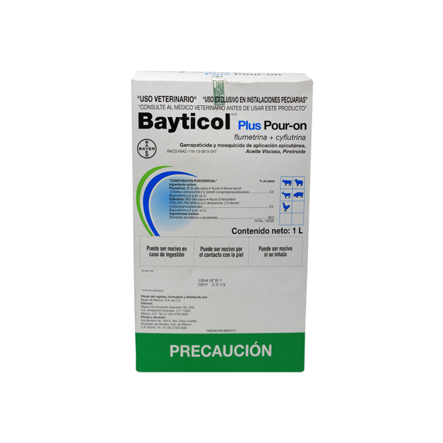 Agropecuaria Marroquín Bayticol pour on plus 1 Lt